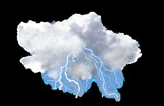furtună cu ploaie ușoară