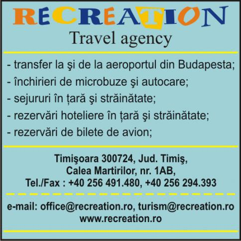 Agentia de turism Recreation Timisoara