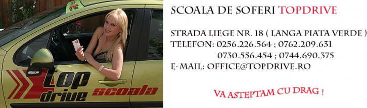 Scoala de soferi Top Drive din Timisoara