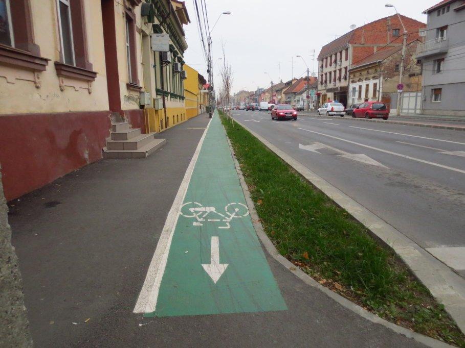Pista bicicleta -  Bulevardul Constantin Brancoveanu