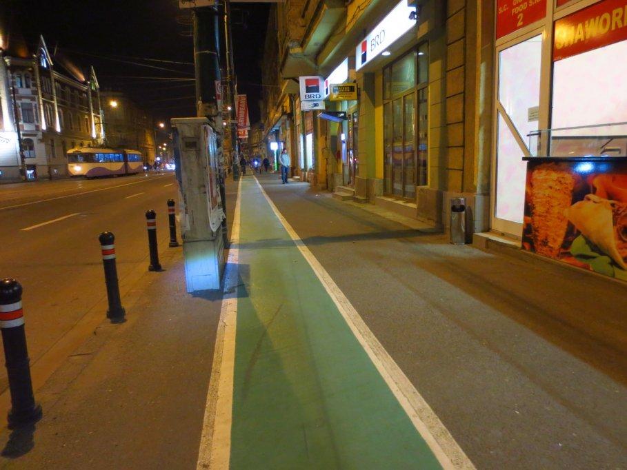 Pista bicicleta - Bulevardul 16 Decembrie 1989 din Timisoara