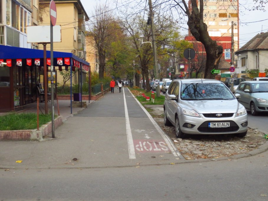 Pista bicicleta - Bulevardul Eroilor de la Tisa