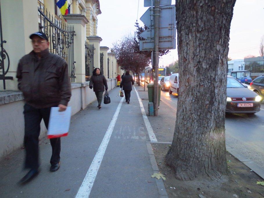 Pista bicicleta - Bulevardul Ion C. Bratianu