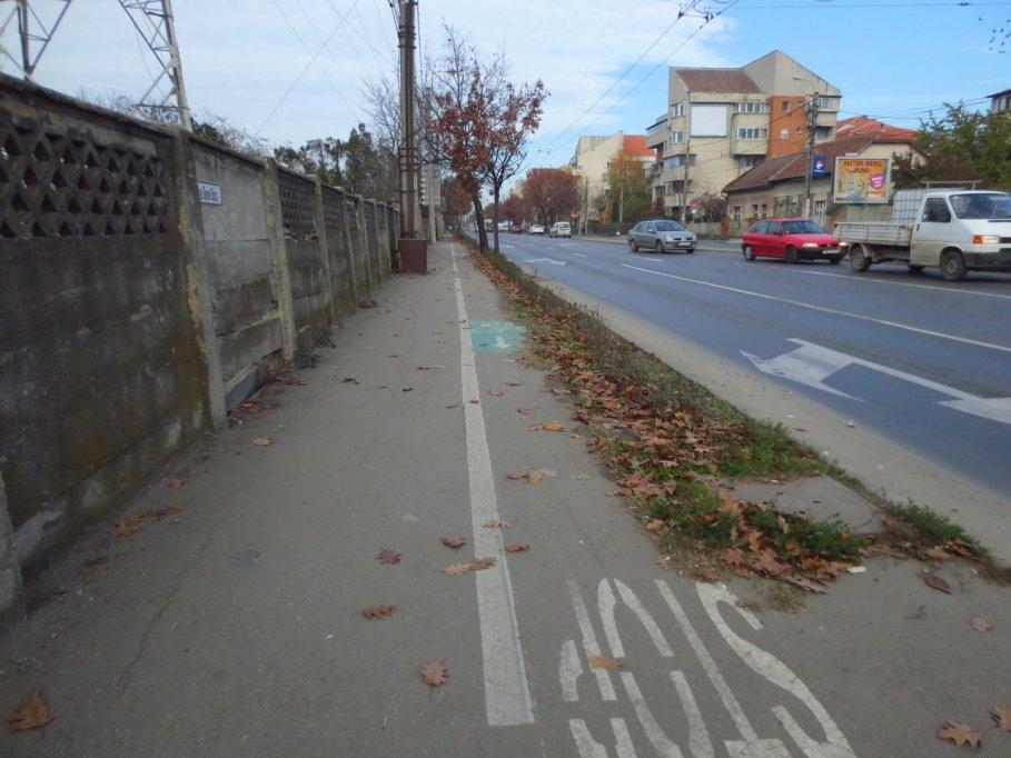Pista bicicleta - Calea Sever Bocu