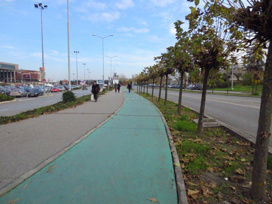 Pista bicicleta - parcare Iulius Mall