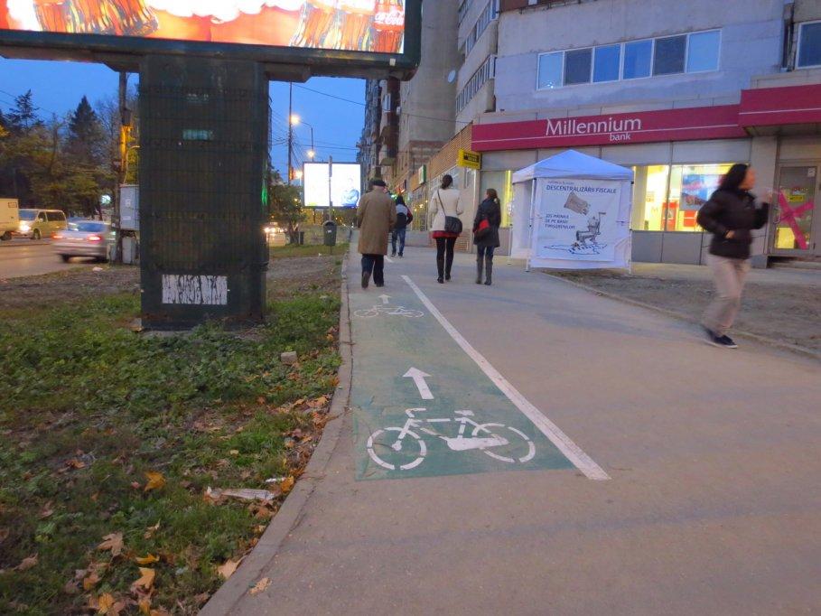 Pista bicicleta - Strada Gheorghe Lazar