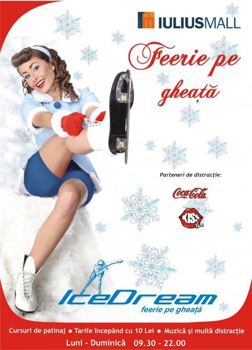 In 15.12.2012 se va inaugura patinoarul Ice Dream de la Iulius Mall Timisoara