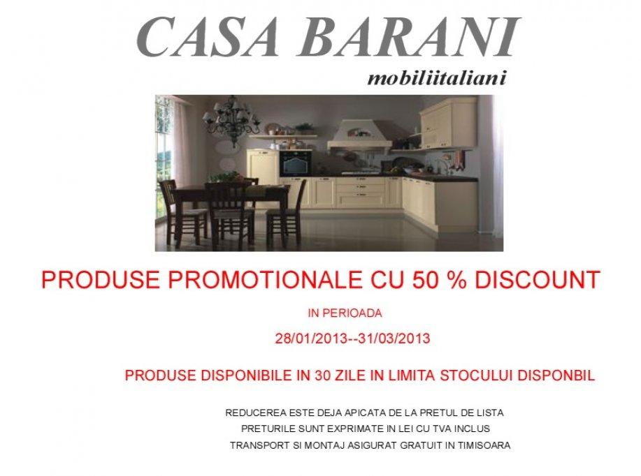 Oferta la mobila italiana in Timisoara cu reducere de 50%