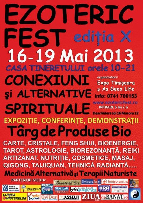 Festivalul Ezoteric Fest Timisoara la editie jubiliara
