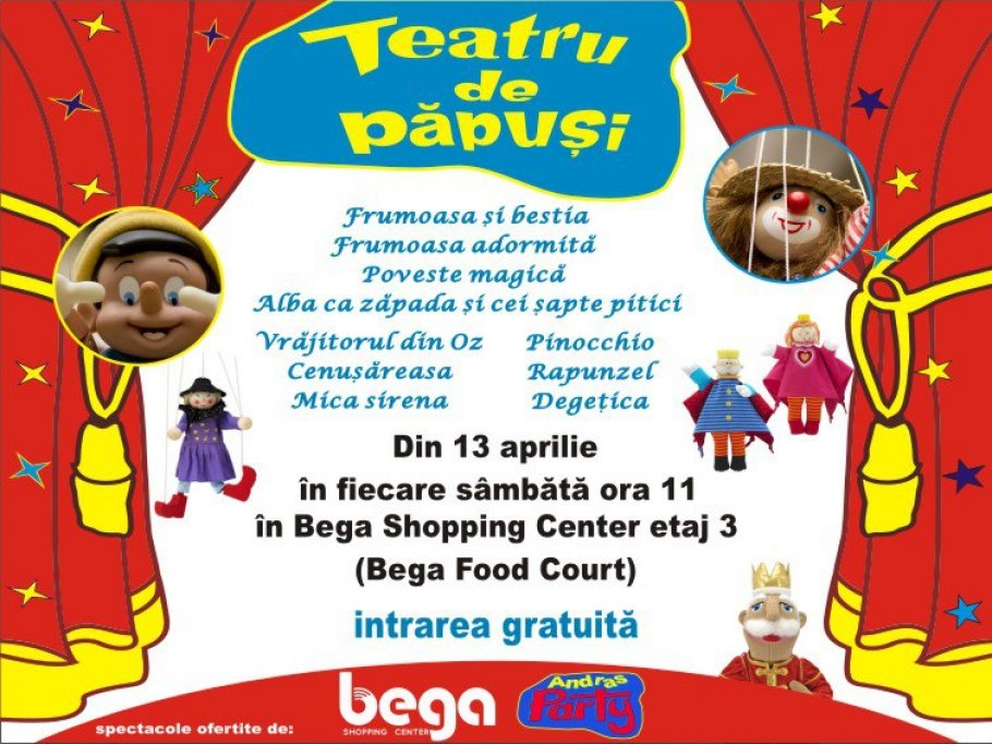 Teatru de Papusi la Bega Shopping Center