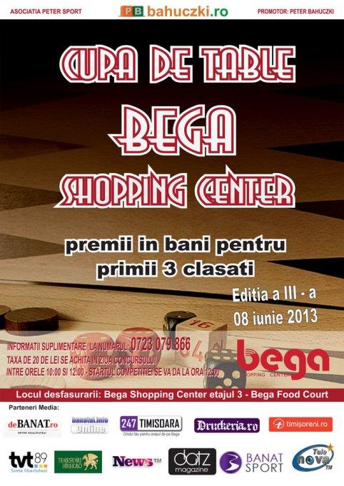 Cupa de Table Bega Shopping Center iunie 2013