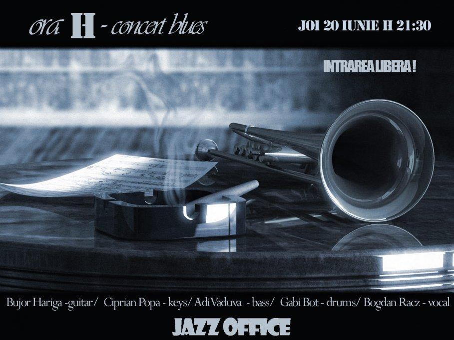 Concert de blues cu Ora H la Jazz Office