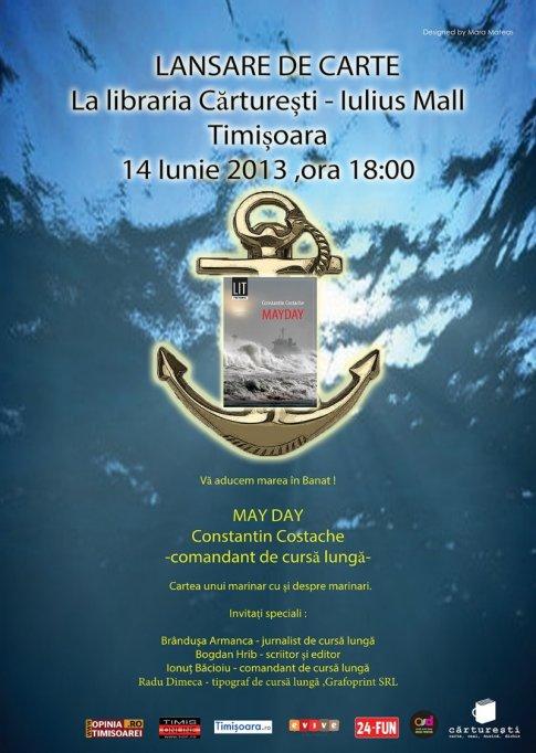 """Lansare de carte """"Mayday"""" în librăria Cărtureşti din Iulius Mall"""