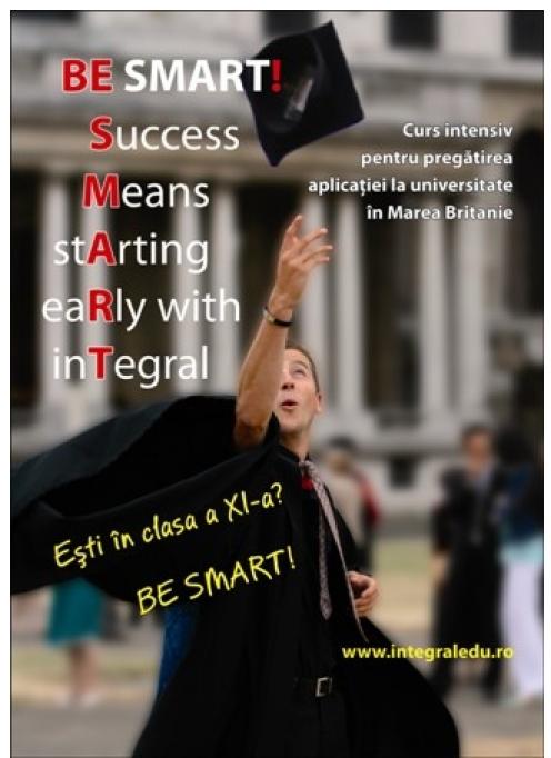 BeSmart - Curs intensiv pentru pregatirea aplicatiei la universitati in Marea Britanie