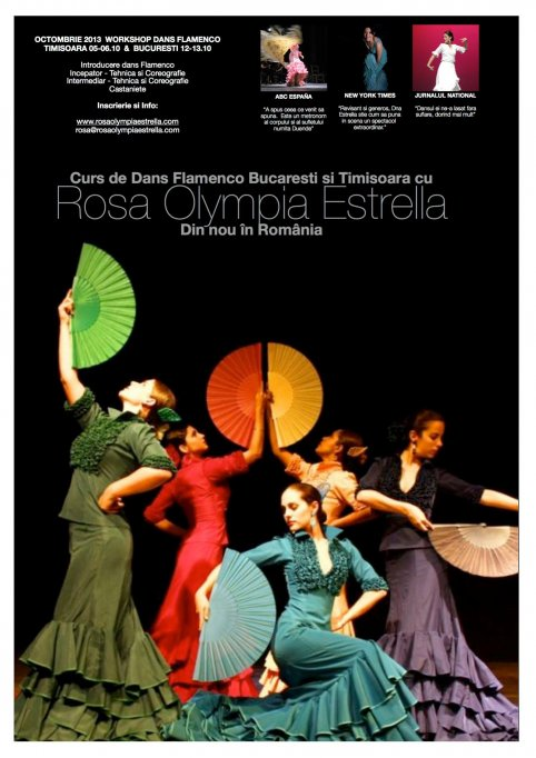 Workshop de flamenco cu Rosa Olympia Estrella