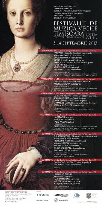 Festivalul de Muzica Veche Timisoara, Editia VIII-a