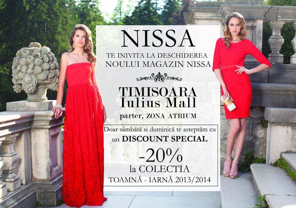 Nissa,un nou magazin pentru femei cu stil, in Iulius Mall Timisoara