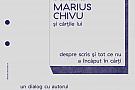 La un ceai cu Marius Chivu si cartile lui