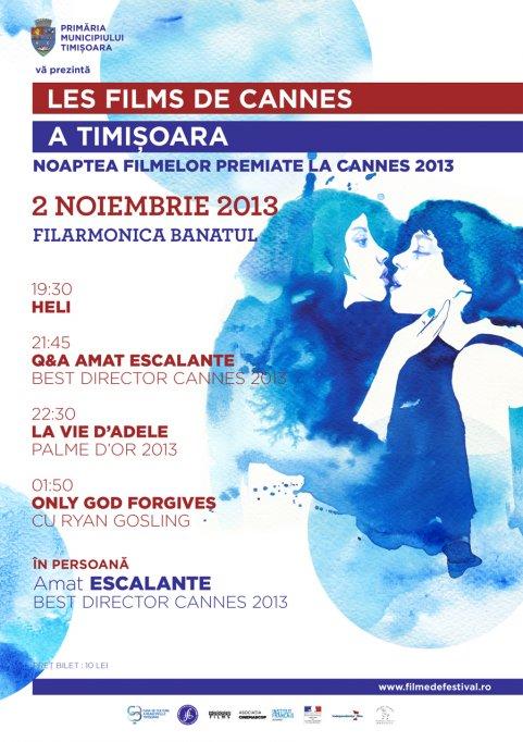 Noaptea filmelor de Cannes la Timisoara
