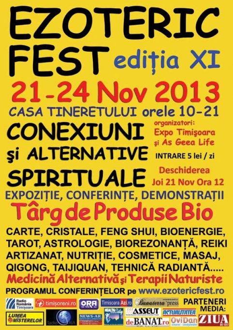 Program EzotericFest 21-24 Nov 2013 Timisoara