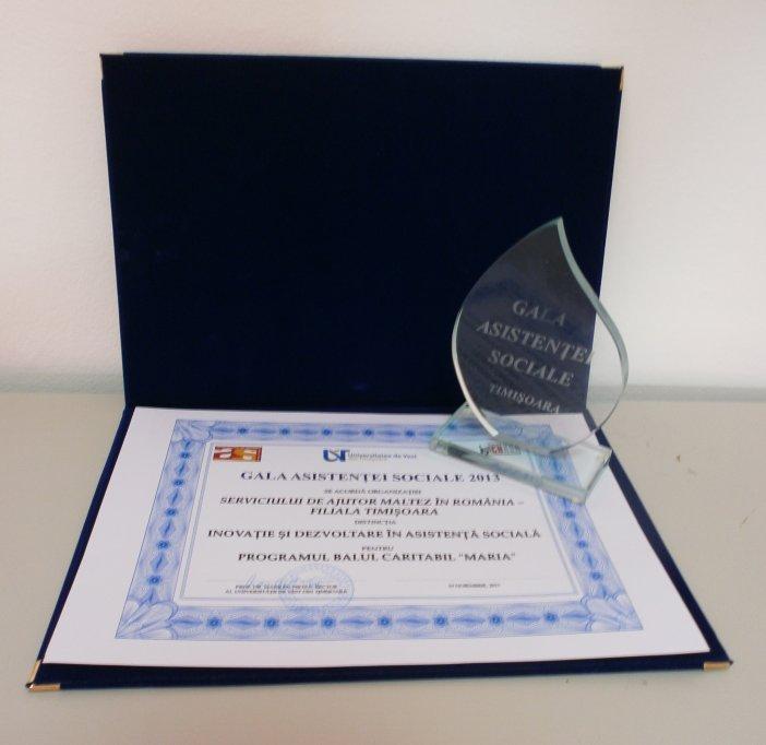 Serviciul de Ajutor Maltez, premiat la Gala Asistentei Sociale 2013