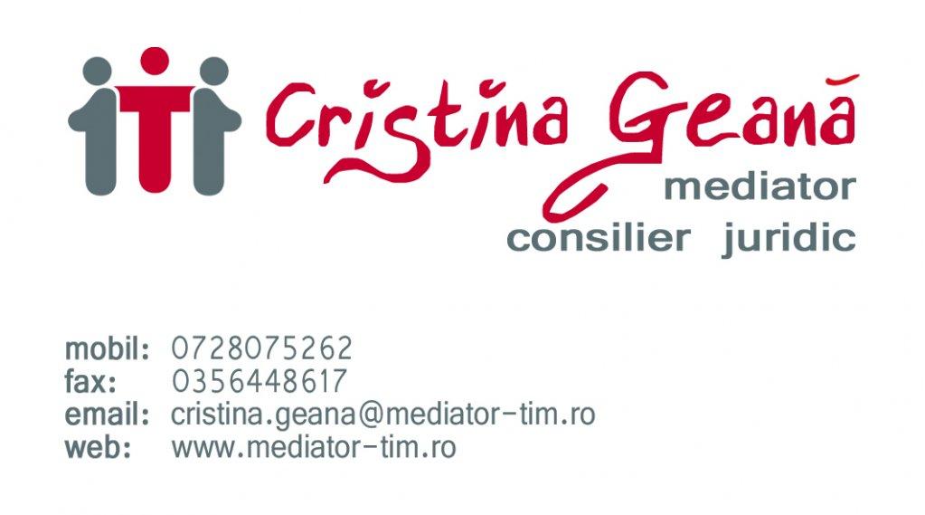 Cristina Geana -Birou de mediator