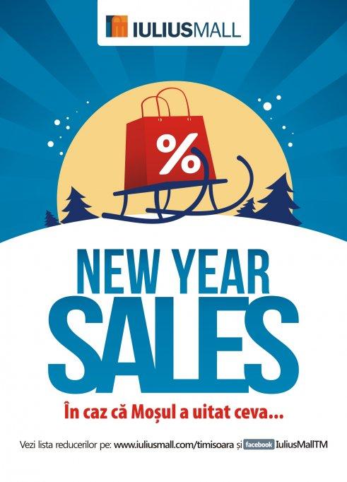 Noul an incepe cu promotii de pana la 75% la Iulius Mall Timisoara