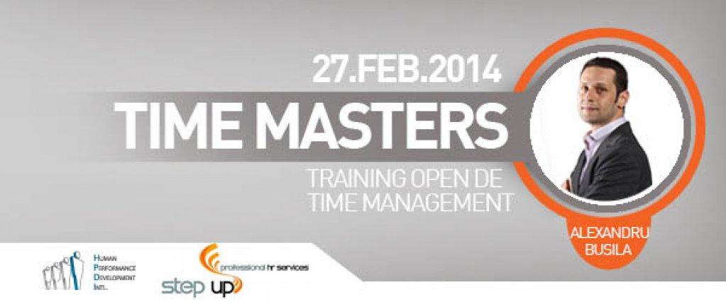 Time Masters - curs open de Time Management