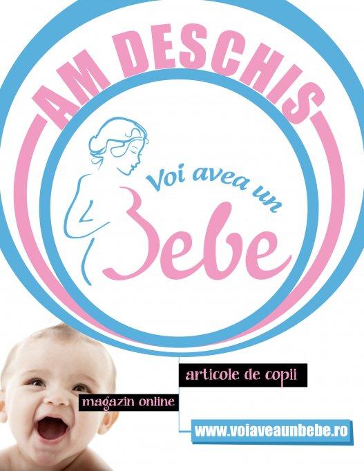 Oferte speciale la deschiderea noului magazin Voi Avea Un Bebe!