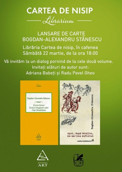 Lansare de carte Bogdan Alexandru Stanescu