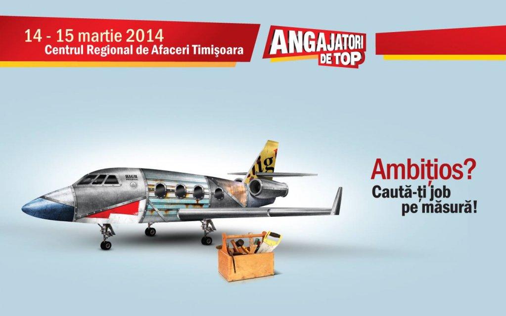 Vineri si sambata, pe 14-15 martie are loc in Timisoara targul de cariera Angajatori de TOP