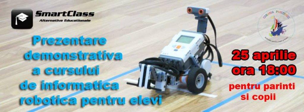 Prezentare demonstrativa gratuita a cursurilor de Informatica Robotica pentru elevi - SmartClass