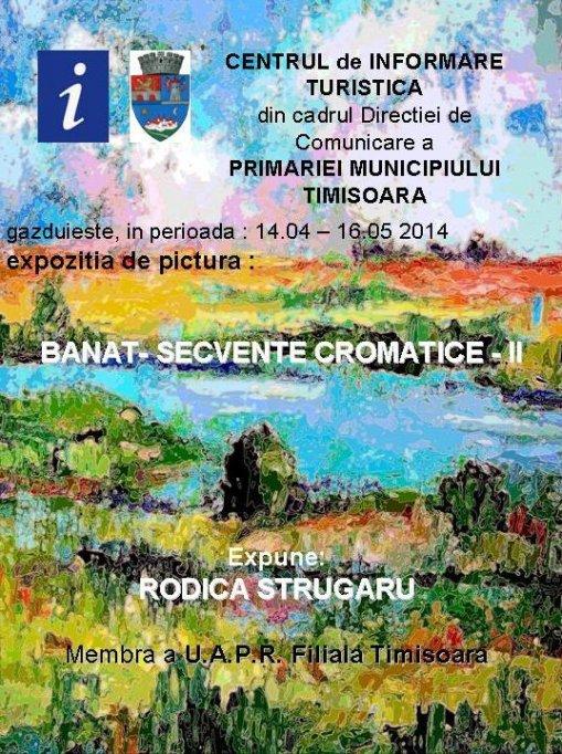 "Expozitie de pictura ""Banat - Secvente cromatice II"" Rodica Strugaru"