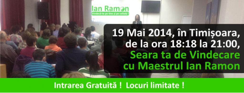 Seminar Gratuit! Seara ta de vindecare cu Maestrul Ian Ramon