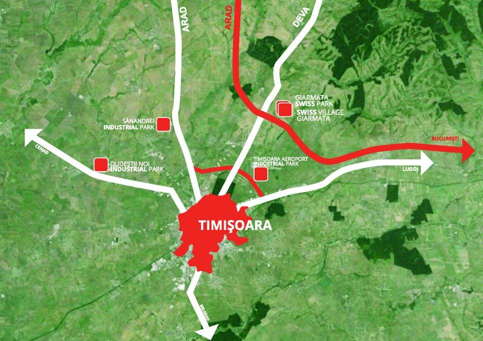 Dezvoltari imobiliare pe 128 de hectare in nordul Timisoarei
