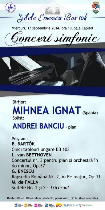 Concert simfonic @ Zilele muzicale Enescu-Bartok