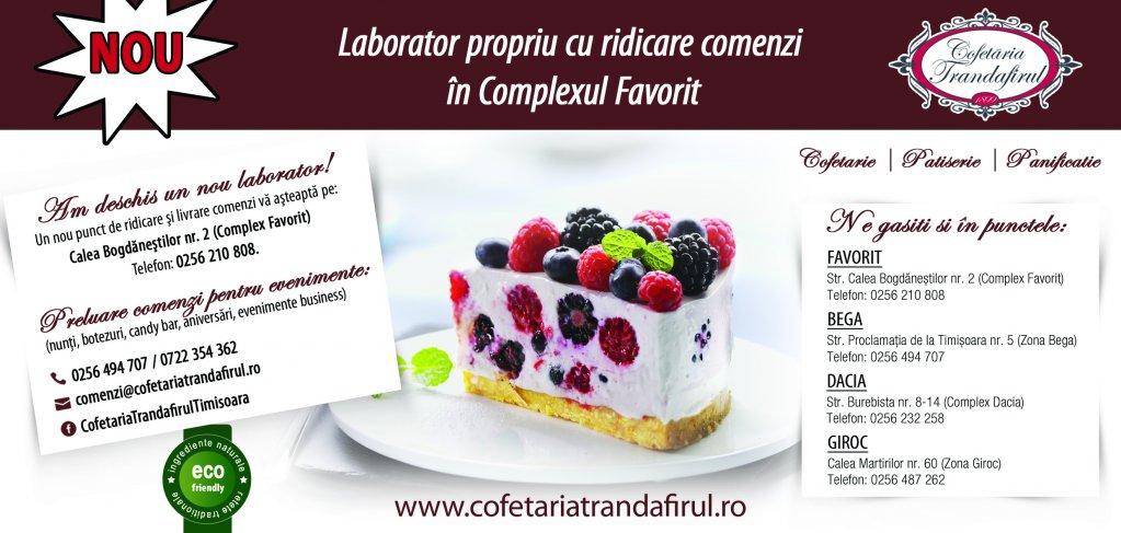 NOU Laborator propriu - Cofetaria Trandafirul Timisoara