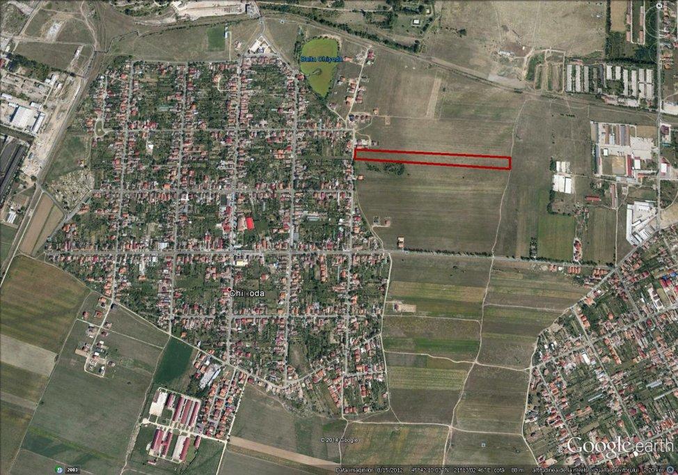 Vanzare parcele pentru teren de casa in Chisoda