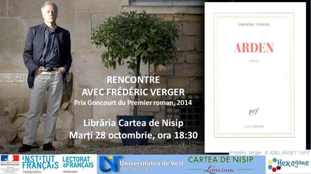 Intalnire cu scriitorul francez Frederic Verger, premiul Goncourt 2014 pentru romanul de debut