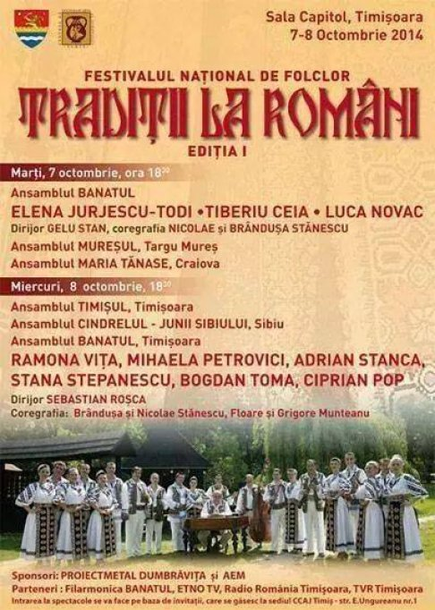 Festivalul national de folclor Traditii la Romani