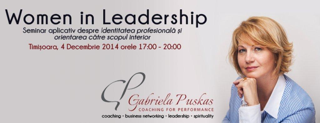 Leadershipul feminin si cunoasterea de sine - Seminar: Identitatea profesionala si orientarea catre scop