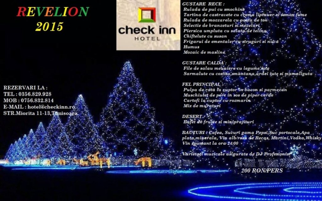 Revelion 2015 la Restaurant Check Inn
