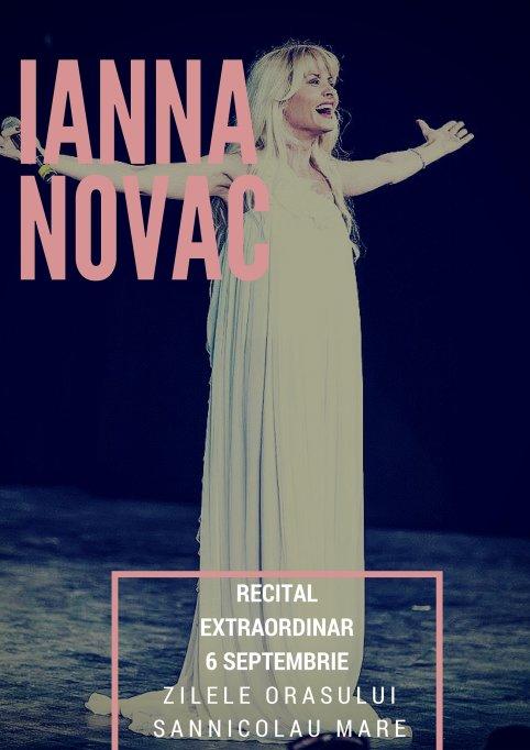 Soprana Ianna Novac, recital extraordinar la Zilele Orasului Sannicolau Mare