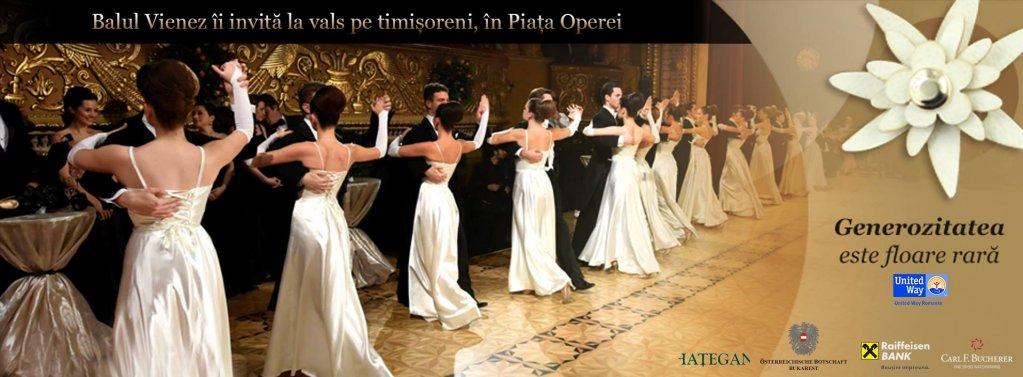 Balul Vienez îi invită la vals pe timișoreni, în Piața Operei