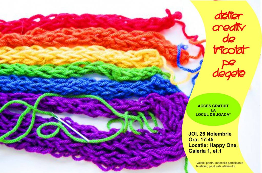 Atelier de tricotat pe degete