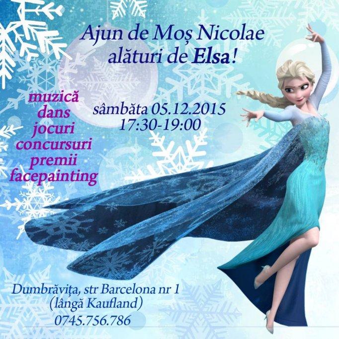 Ajun de Moș Nicolae alături de Elsa