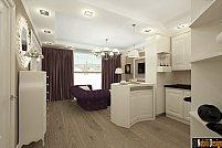 Amenajare interioara de living la apartament clasic