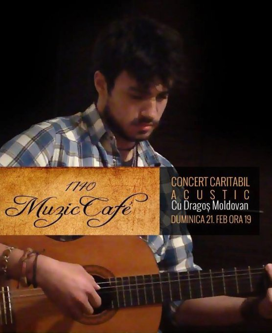 Concert caritabil acustic cu Dragos Moldovan