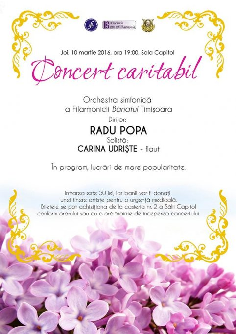 Concert Caritabil pentru Carina