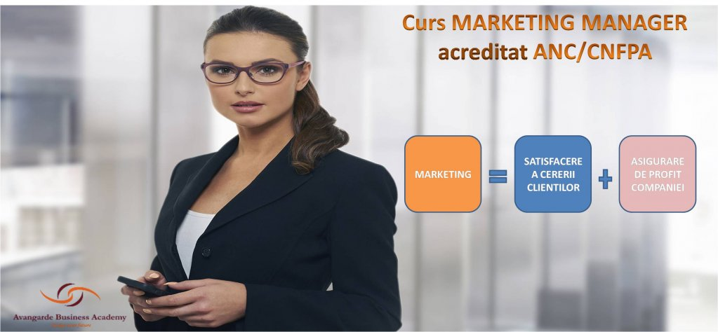 Curs Marketing Manager Timisoara - acreditat ANC